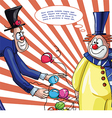 card with clowns for text vector image vector image
