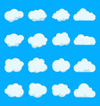 cartoon cloud sky on blue backgroundgraphic vector image vector image