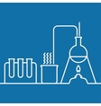 Chemistry with lab test and research equipment vector image