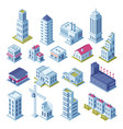 city buildings 3d isometric projection for map vector image vector image