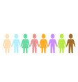 colored silhouette paper people as community on vector image vector image