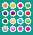 colorful paper flowers vector image vector image