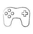 console gamepad symbol vector image vector image