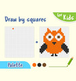 copy picture game for small children draw vector image