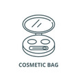 cosmetic bag line icon linear concept vector image vector image