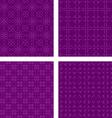Dark purple seamless pattern background set vector image vector image