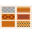 Different color and pattern of the brick laying vector image vector image