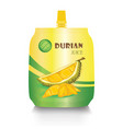 durian juice package on a white background vector image