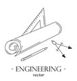 engineering logo vector image