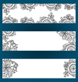 Floral banners set with flowers and berries vector image vector image