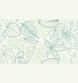 floral pattern with leaves flower seamless summer vector image