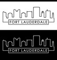 fort lauderdale skyline linear style editable vector image vector image