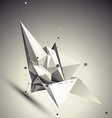 Geometric black and white polygonal structure with vector image vector image