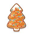 gingerbread cookies tree of merry vector image vector image
