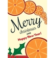 Holiday background with cinnamon and orange vector image vector image
