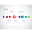 horizontal timeline infographics from a link of vector image vector image