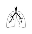 isolated of lung vector image vector image