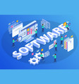 isometric software development composition vector image vector image