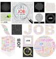 JOB vector image vector image
