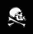 jolly roger symbol pirate flag skull and vector image vector image
