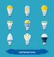 led lamps flat vector image