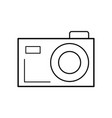 line digital camera to capture the nice moments vector image