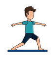 man practicing yoga avatar vector image