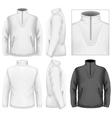 Mens fleece sweater design template vector image