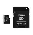 micro sd card and adapter vector image