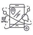 mobile navigationcommerce location line vector image vector image