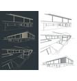 modern buildings sketches set vector image