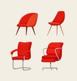 office chair cartoon vector image