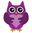owl lilac vector image vector image