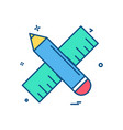 pencil scale icon design vector image
