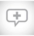 Plus grey message icon vector image