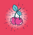 pop art cherry patch design vector image