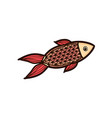 red fish isolated on white background vector image