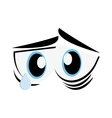 sad cartoon eyes icon vector image vector image