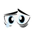 Sad cartoon eyes icon