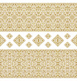 seamless ethnic patterns for border vector image vector image