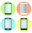 Set of flat smartphone icons