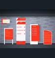 set signage design vector image vector image