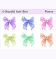 six satin bows vector image vector image