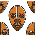 south africa totem mask seamless pattern african vector image vector image