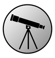 Telescope button vector image