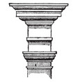 tuscan order century vintage engraving vector image vector image