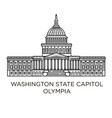 washington state capitol in olympia united states vector image vector image
