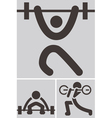 Weightlifting icons vector image vector image
