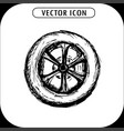 wheel hand drawing vector image vector image