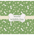 world wildlife day car with animal traces vector image vector image